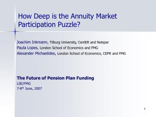 How Deep is the Annuity Market Participation Puzzle?