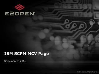 IBM SCPM MCV Page