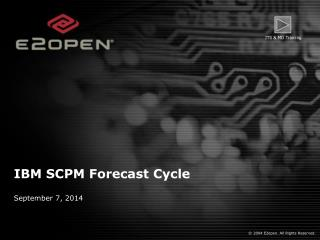 IBM SCPM Forecast Cycle