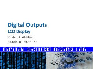 Digital Outputs LCD  Display