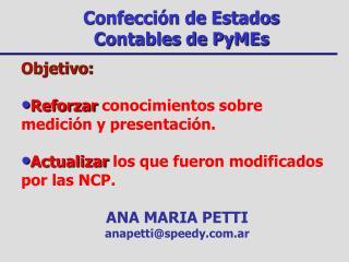 Confección de Estados Contables de PyMEs