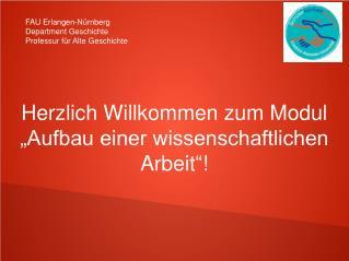 FAU Erlangen-Nürnberg Department Geschichte Professur für Alte Geschichte