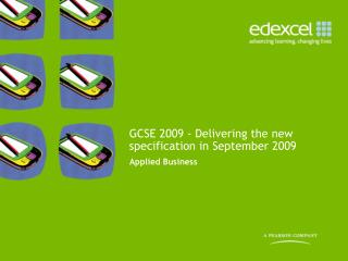GCSE 2009 - Delivering the new specification in September 2009