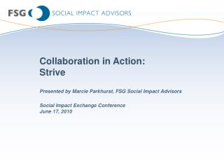 Collaboration in Action:  Strive