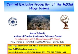 Central Exclusive Production of the MSSM Higgs bosons
