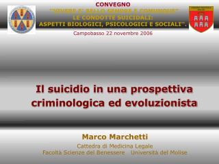 Il suicidio in una prospettiva criminologica ed evoluzionista