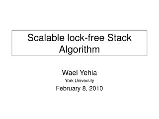 Scalable lock-free Stack Algorithm