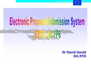 Dr David Gould DG RTD
