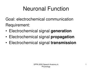 Neuronal Function