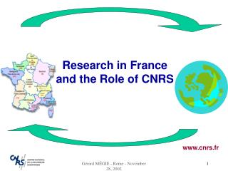 Research in France and the Role of CNRS