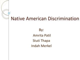 Native American Discrimination