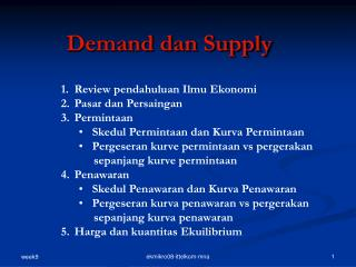Demand dan Supply