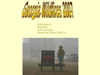 Georgia Wildfires 2007