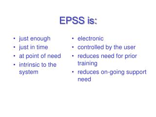 EPSS is:
