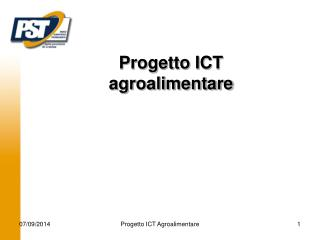Progetto ICT agroalimentare