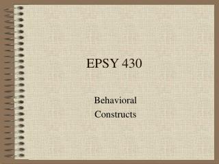 EPSY 430