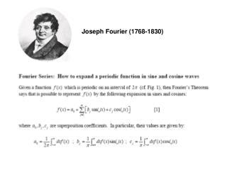 Joseph Fourier (1768-1830)