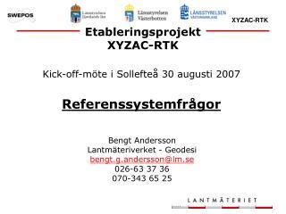 Etableringsprojekt XYZAC-RTK