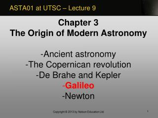ASTA01 at UTSC – Lecture 9