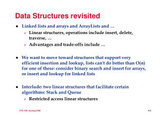 Data Structures revisited