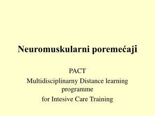 Neuromuskularni poremecaji