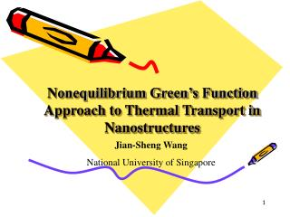 Nonequilibrium Green's Function Approach to Thermal Transport in Nanostructures