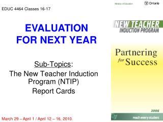 EDUC 4464 Classes 16-17