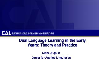 Dual Language Learning in the Early Years: Theory and Practice