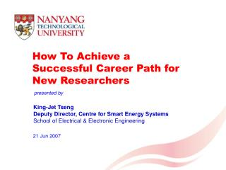 How To Achieve a Successful Career Path for New Researchers