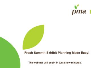 Fresh Summit Exhibit Planning Made Easy!