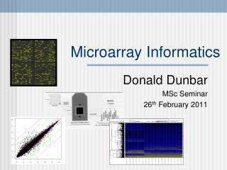 Microarray Informatics