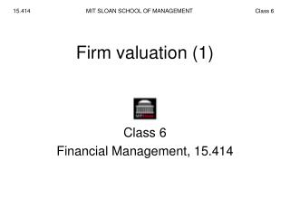 Firm valuation (1)