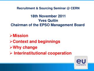 Recruitment & Sourcing Seminar @ CERN