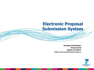 Electronic Proposal Submission System