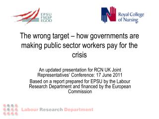 The wrong target – how governments are making public sector workers pay for the crisis