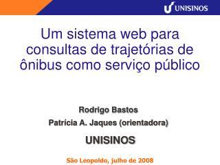 Um sistema web para consultas de trajetórias de ônibus como serviço público