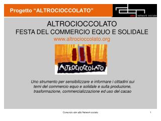 """Progetto """"ALTROCIOCCOLATO"""""""