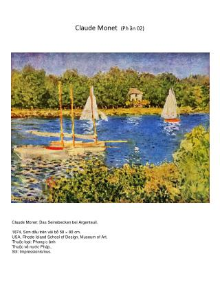Claude Monet   (Ph ần 02)