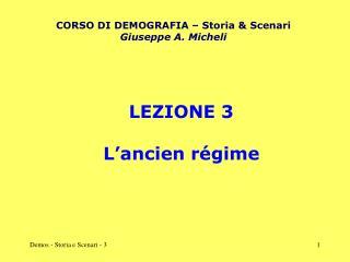 LEZIONE 3 L'ancien régime