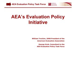 AEA's Evaluation Policy Initiative
