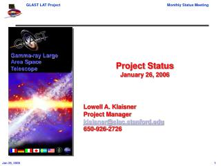 Project Status January 26, 2006