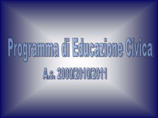 A.s. 2009/2010/2011