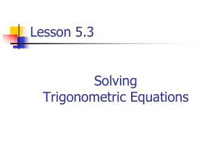 Lesson 5.3