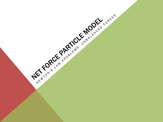 Net Force Particle Model