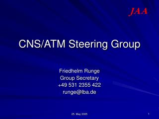CNS/ATM Steering Group