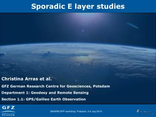 Sporadic  E  layer studies