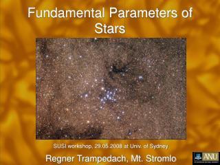 Fundamental Parameters of Stars