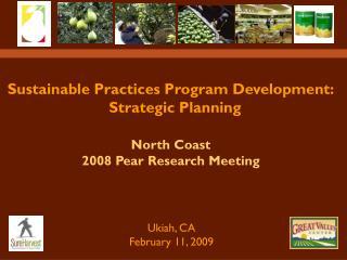 Sustainable Practices Program Development:   Strategic Planning