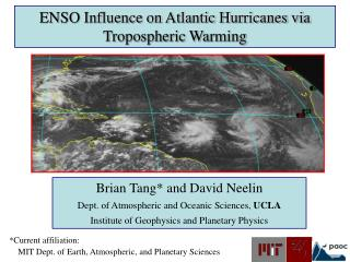 ENSO Influence on Atlantic Hurricanes via Tropospheric Warming