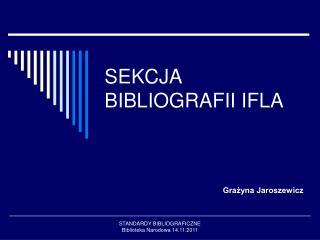 SEKCJA BIBLIOGRAFII IFLA